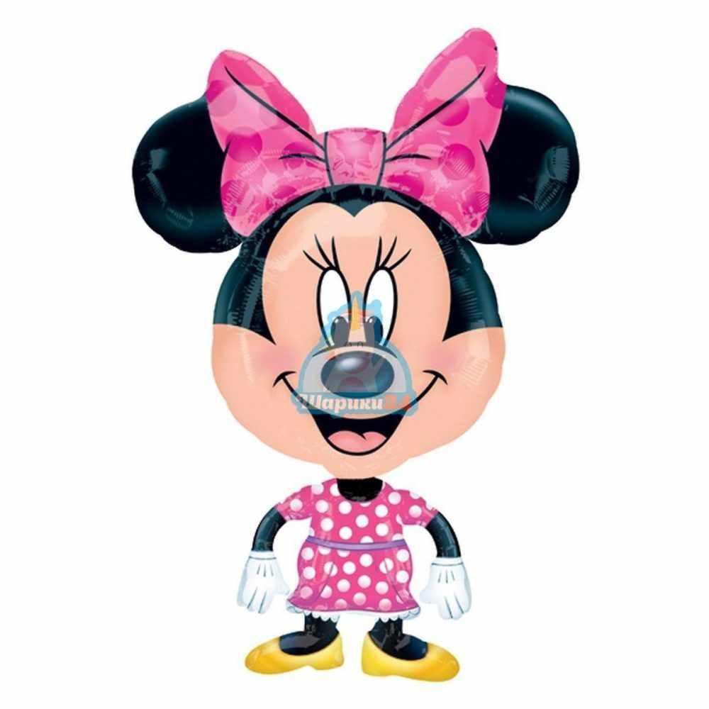 Ходячая фольгированная фигура Микки Маус маленький