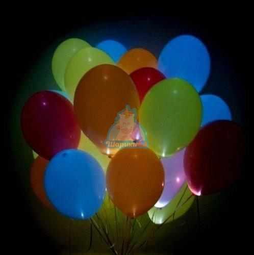 Светящиеся разноцветные шарики с мигающими разноцветными светодиодами