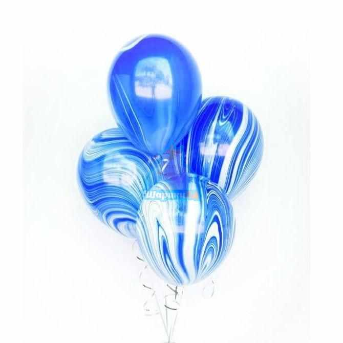 Облако шариков голубой агат