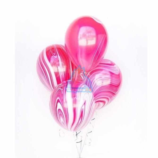 Воздушные шарики на 8 марта розовый агат