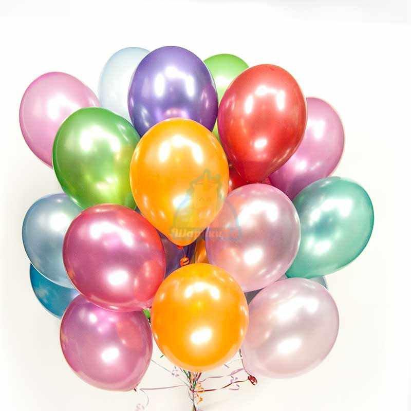 Гелиевые шары разноцветные металлик