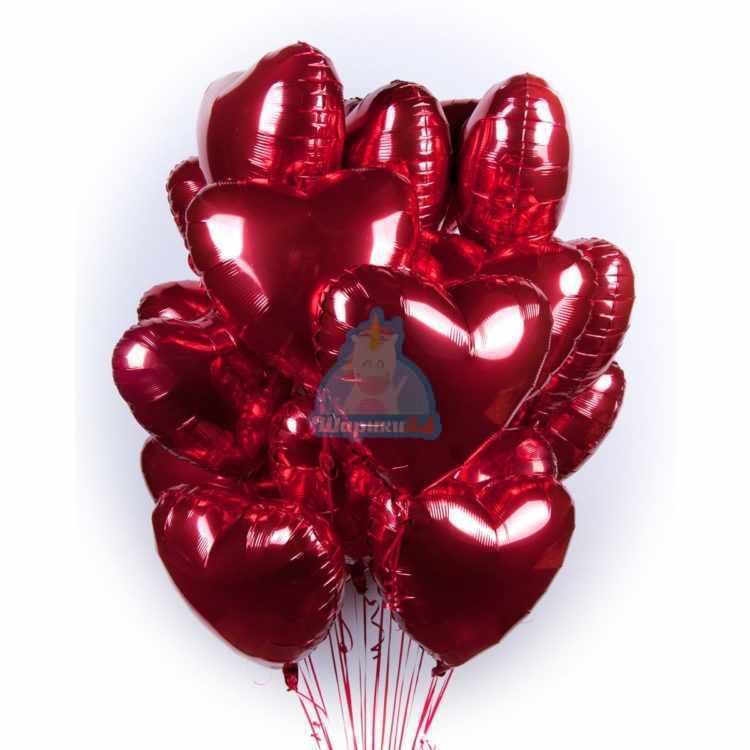 Красные сердца большие на 8 марта