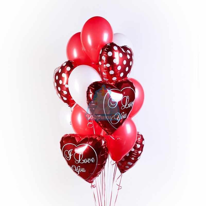 Композиция из гелиевых шаров I Love you