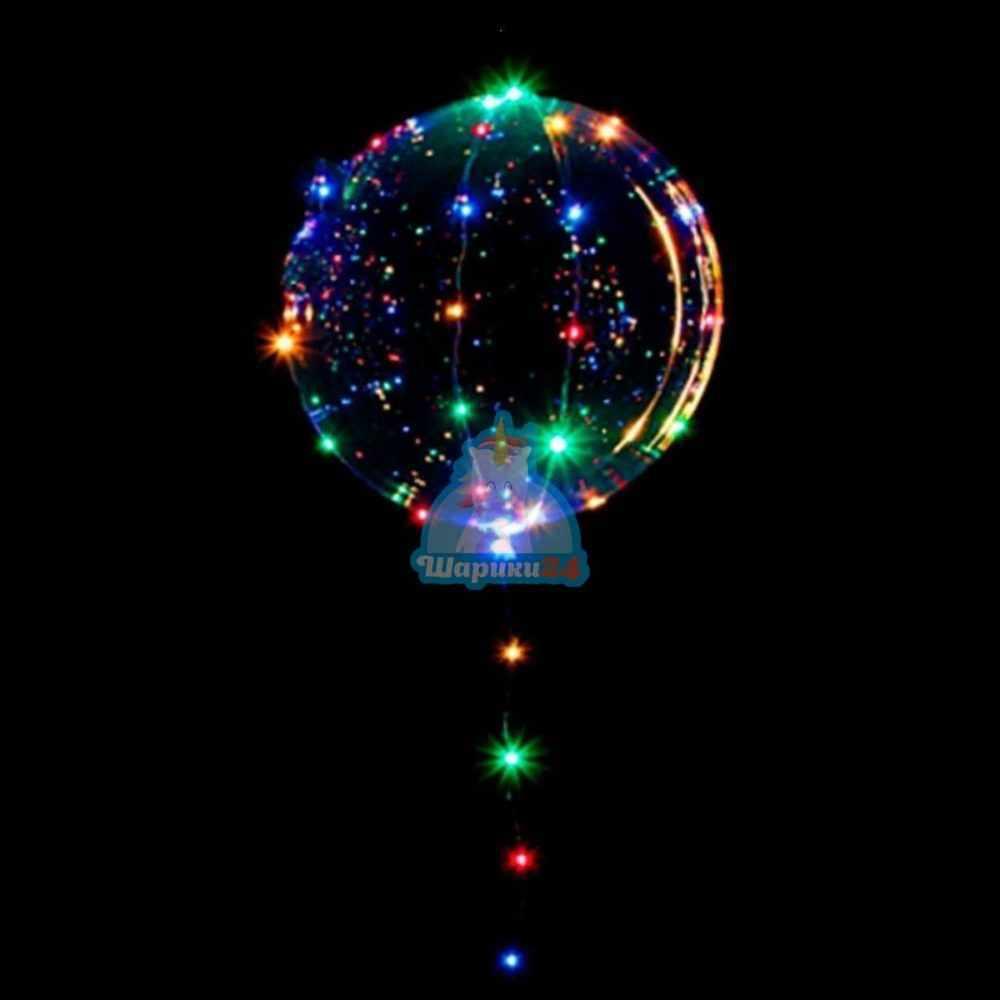 Светящийся кристальный шар Bubbles со светодиодной лентой на 14 февраля