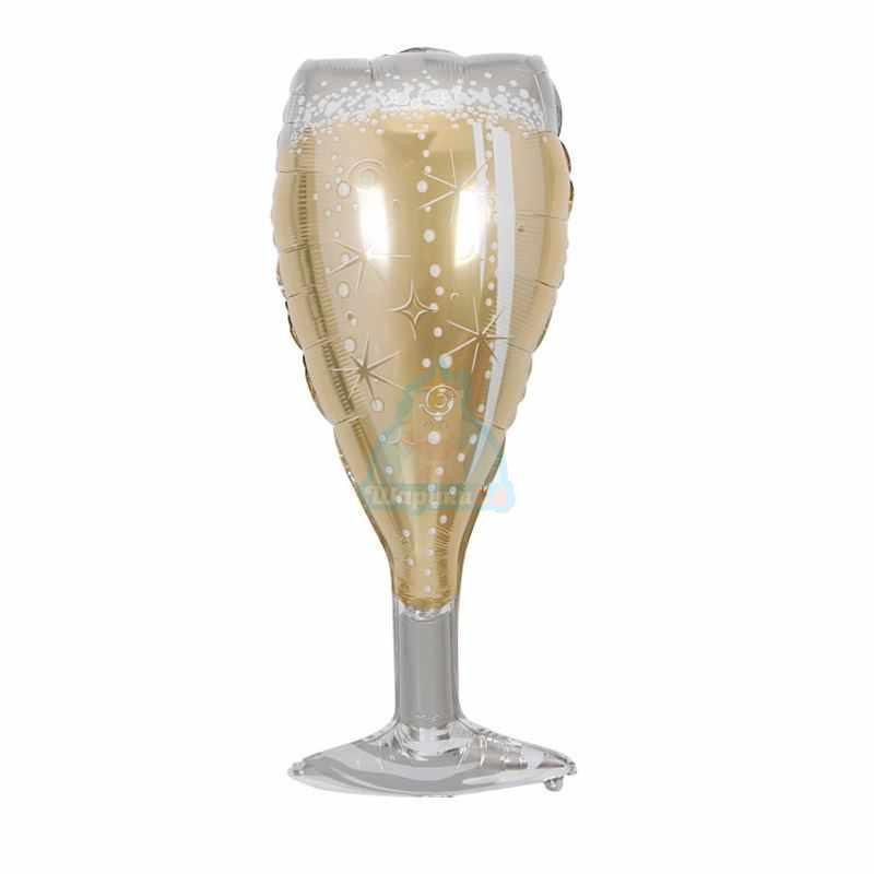Фольгированная фигура бокал шампанского