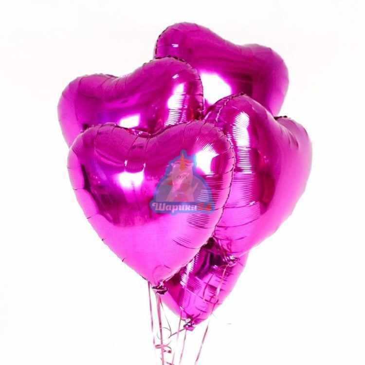 Сердца фуксия на 8 марта