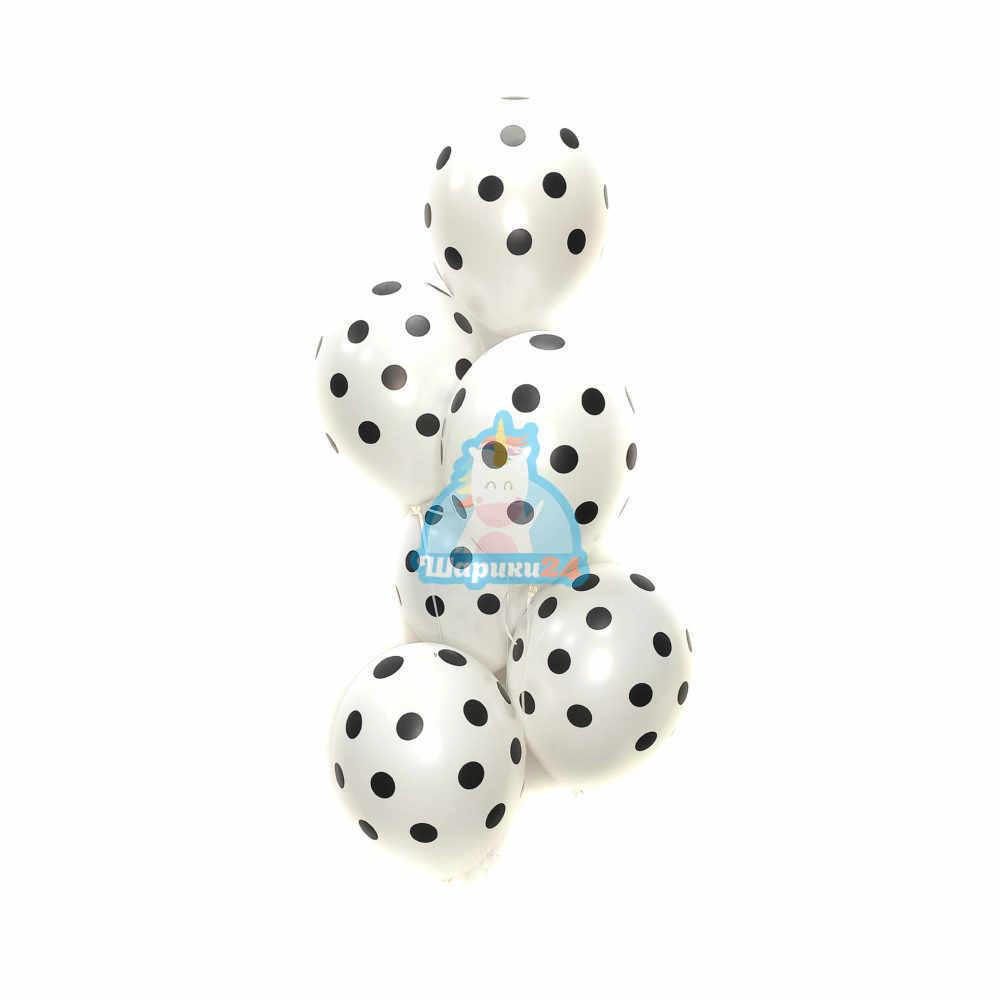 Гелиевые шары белые в точку