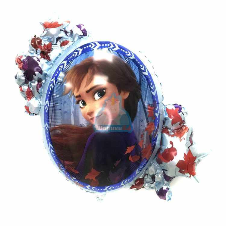 Большой фольгированный шар Холодное сердце Анна