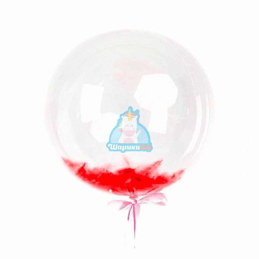 Кристальный шар Bubbles с красными перьями на день влюбленных