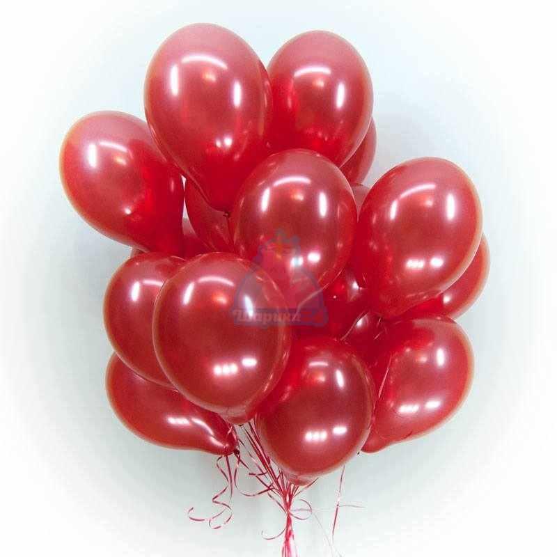 Гелиевые шары красные металлик