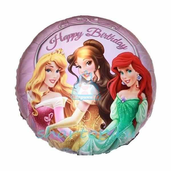 Фольгированный шарик Принцессы на балу