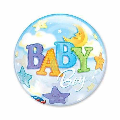 Кристальный шар Bubble Луна и Звезды Мальчик