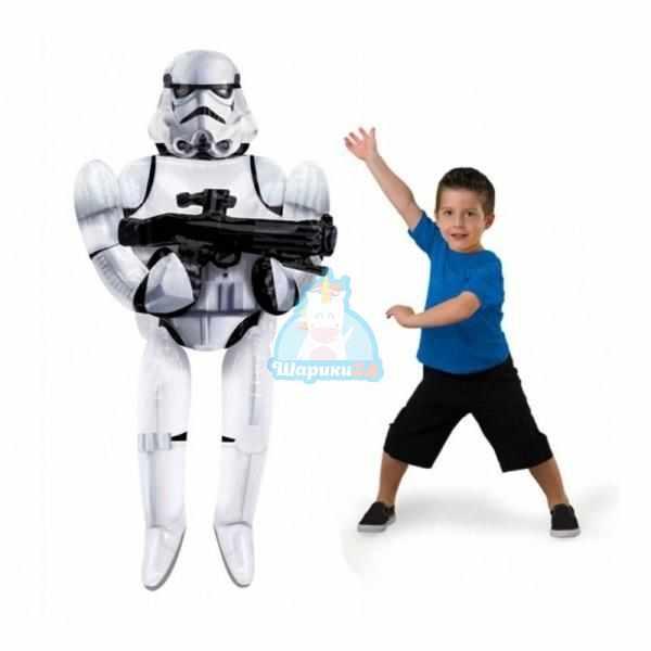 Ходячая фольгированная фигура Звездные Войны Штурмовик
