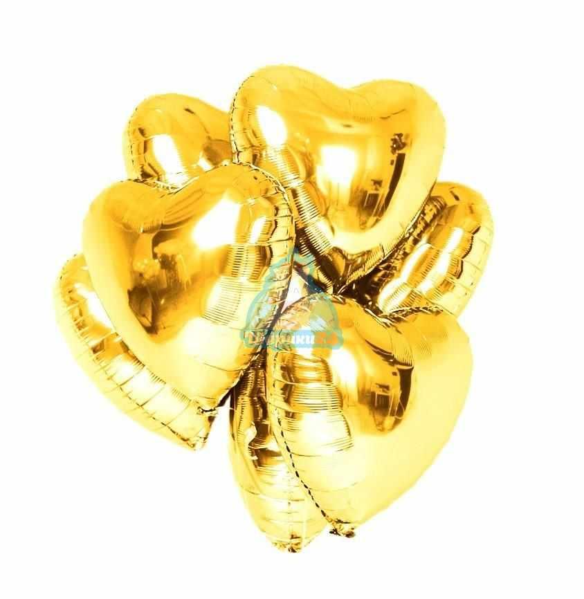 Золотые сердца на 8 марта