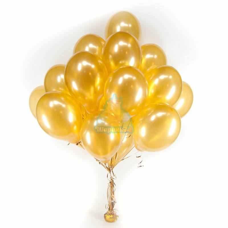 Гелиевые шары золотые
