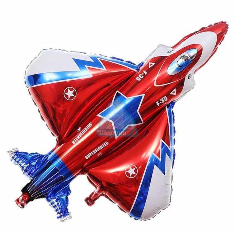 Фольгированная фигура самолет триколор