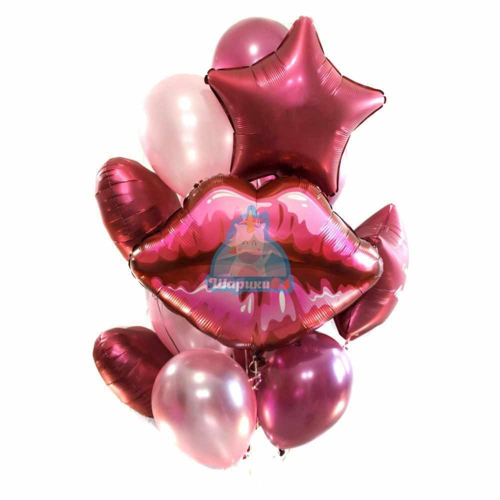Композиция из фольгированных шаров на День Рождения! на 14 февраля