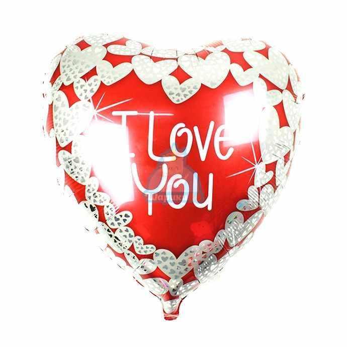 Сердце I Love You на день влюбленных 90см