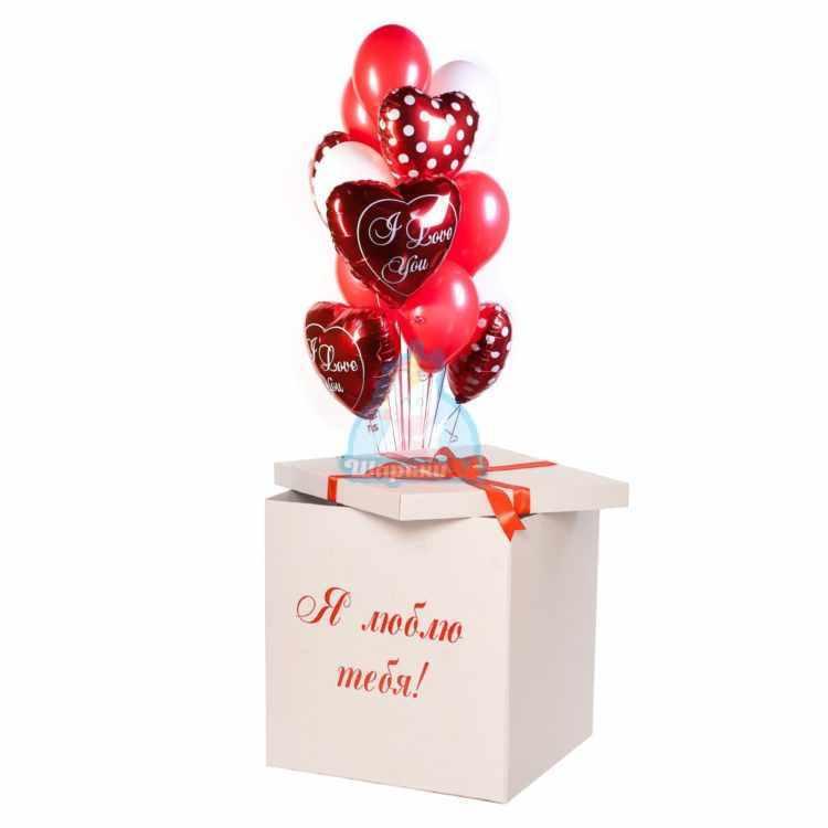 Композиция I LOVE YOU в коробке на 14 февраля!