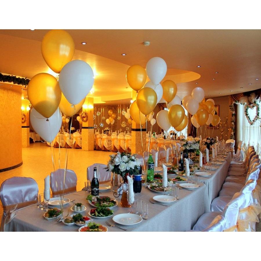 Оформление свадьбы фонтанами из воздушных шаров