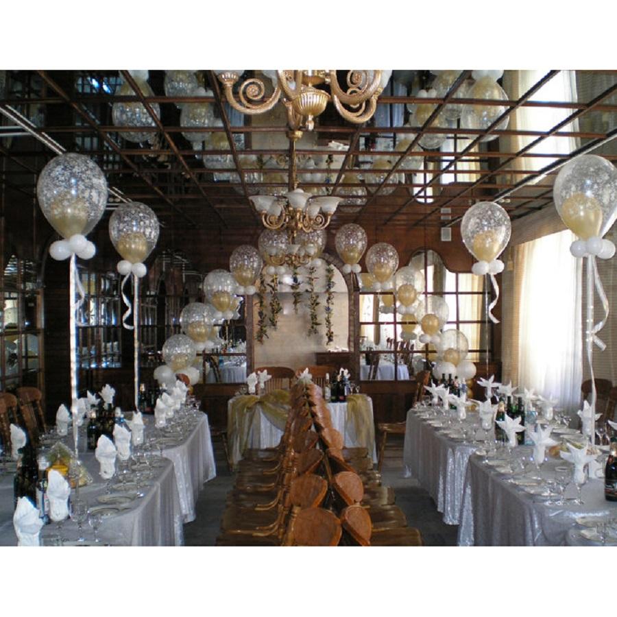 Оформление свадьбы воздушными шарами в технике дабл-стафф