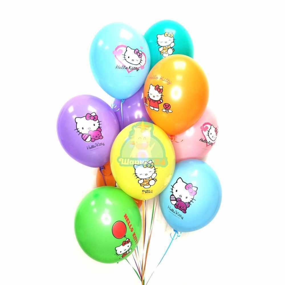 Гелиевые шары разноцветные с Hello Kitty