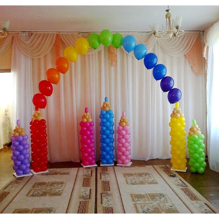 """Оформление детского сада арка из шаров """"Карандаши"""""""