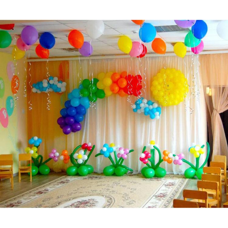 """Оформление детского сада арка из шаров """"Ясный день!"""""""
