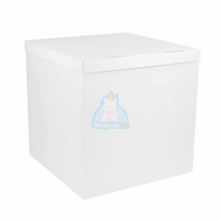 Коробка белая для шаров 70*70*70