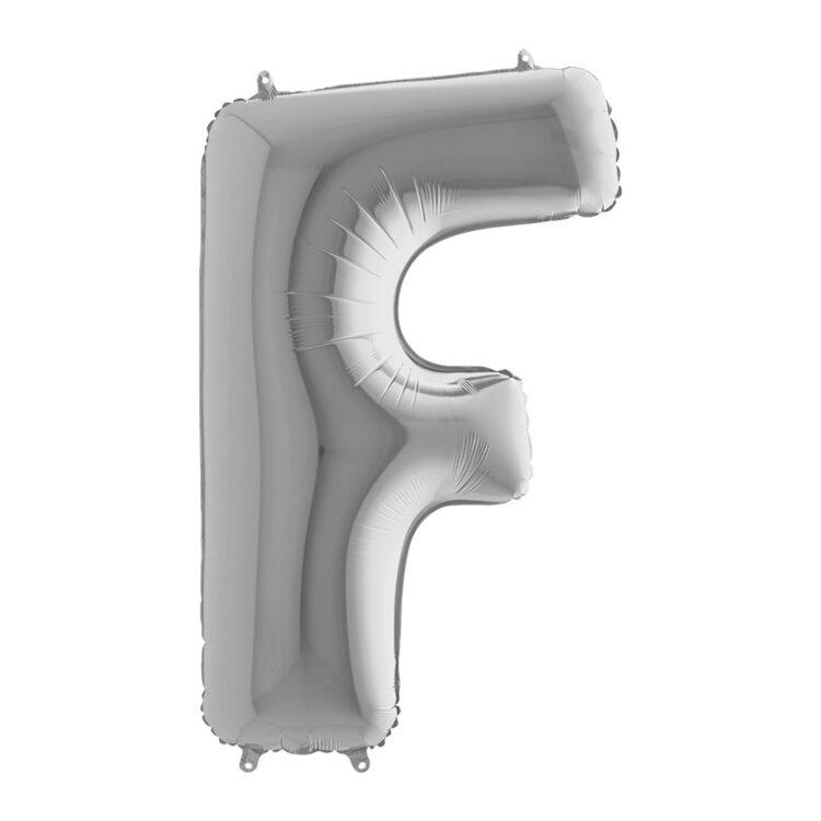 Фольгированная серебряная буква F