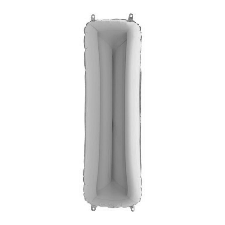 Фольгированная серебряная буква I