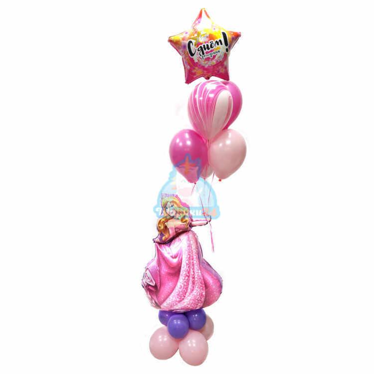 Композиция на день рождения с принцессой и звездой