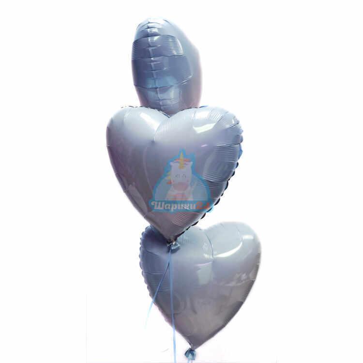 Сердца голубые градиент