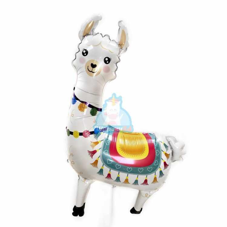 Фольгированная фигура белая Лама