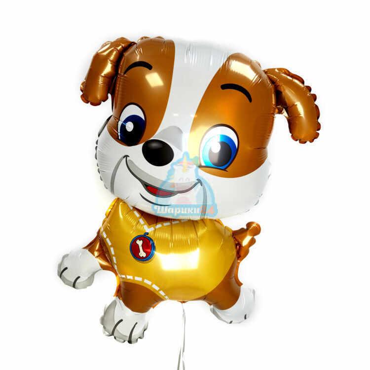 Фольгированная фигура щенок в желтом