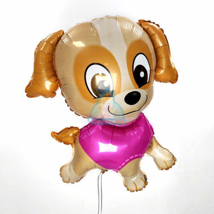 Фольгированная фигура щенок в розовом