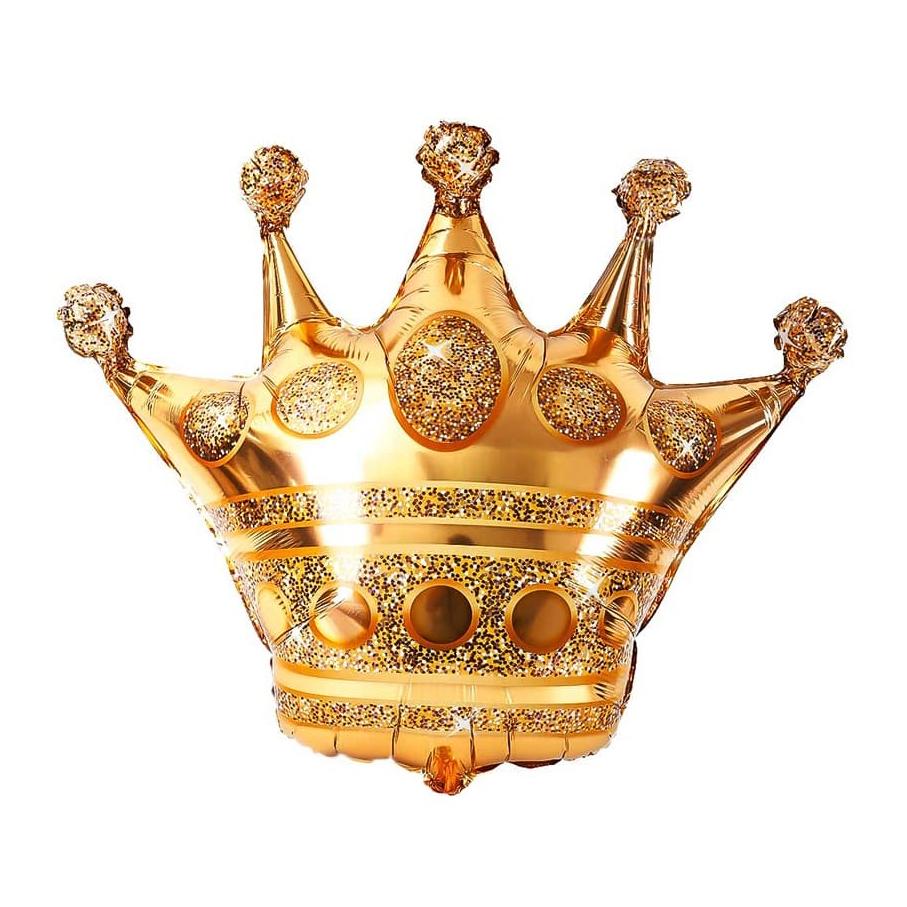 Фольгированная корона золотая