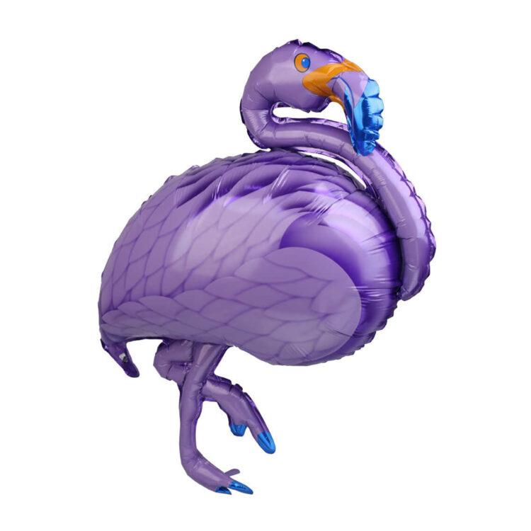 Фольгированная фигура фламинго сиреневый