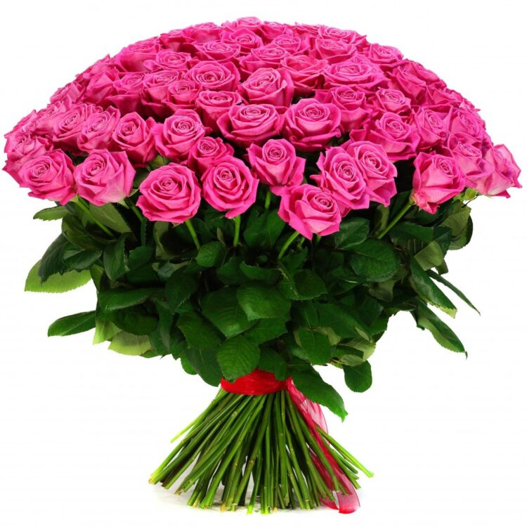 Розы розовые 70 см