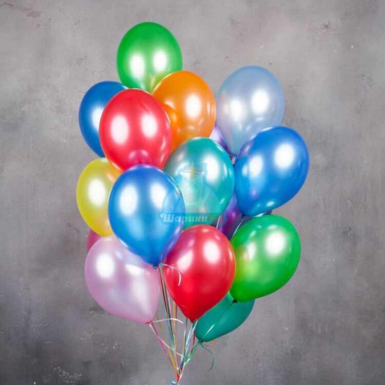 Разноцветные воздушные шары металлик