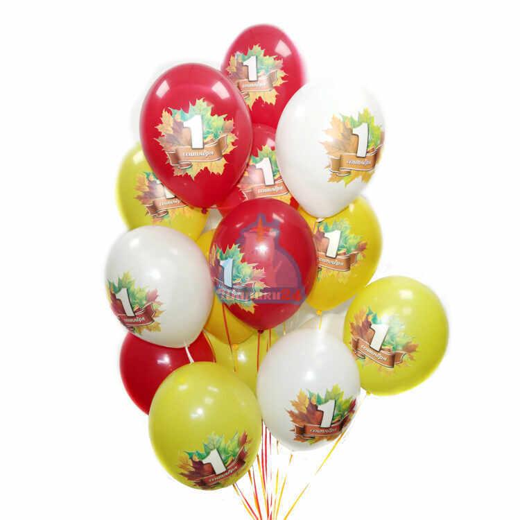 Воздушные разноцветные шарики на 1 сентября