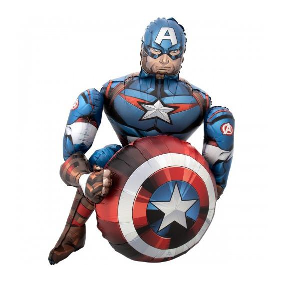 Ходячая фольгированная фигура Капитан Америка