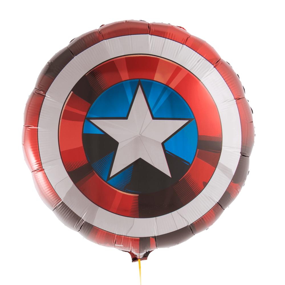 Фольгированный шар эмблема Капитан Америка