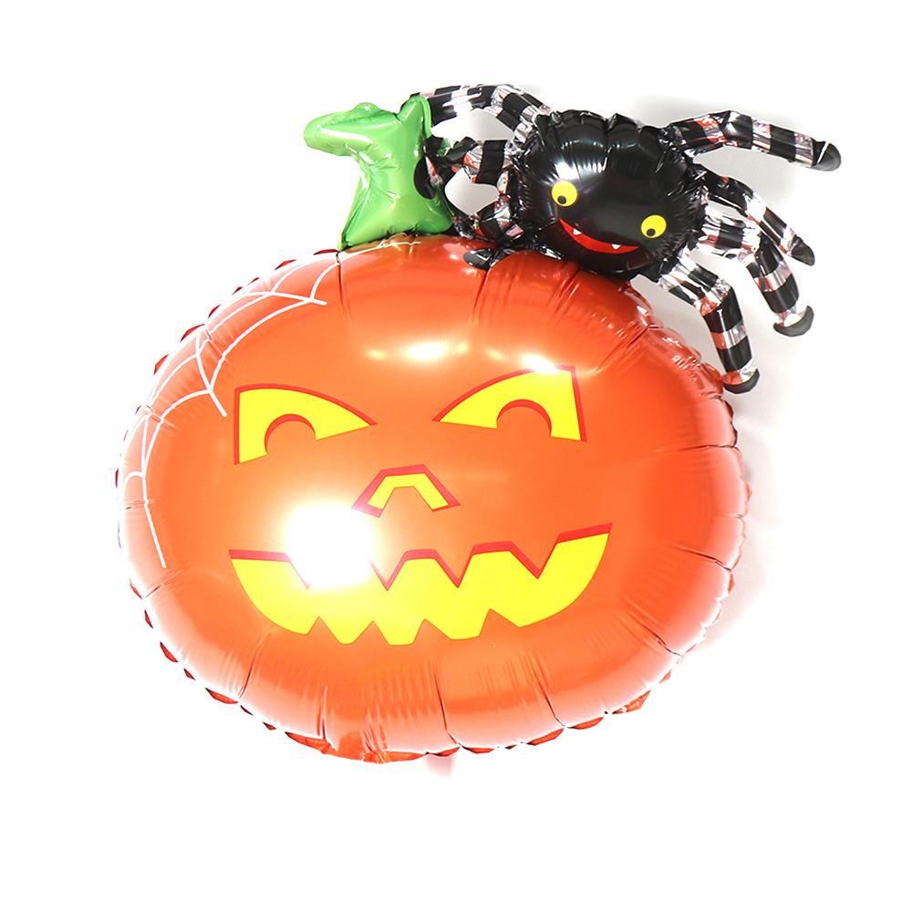 Фольгированный шар Тыква с пауком