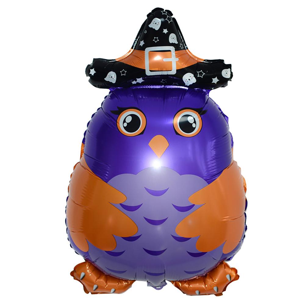 Фольгированная фигура совы на Хэллоуин