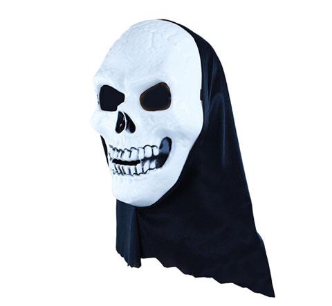 Маска череп белый с капюшоном