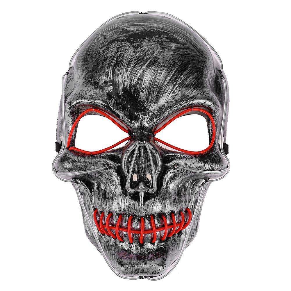 Маска серебряная череп