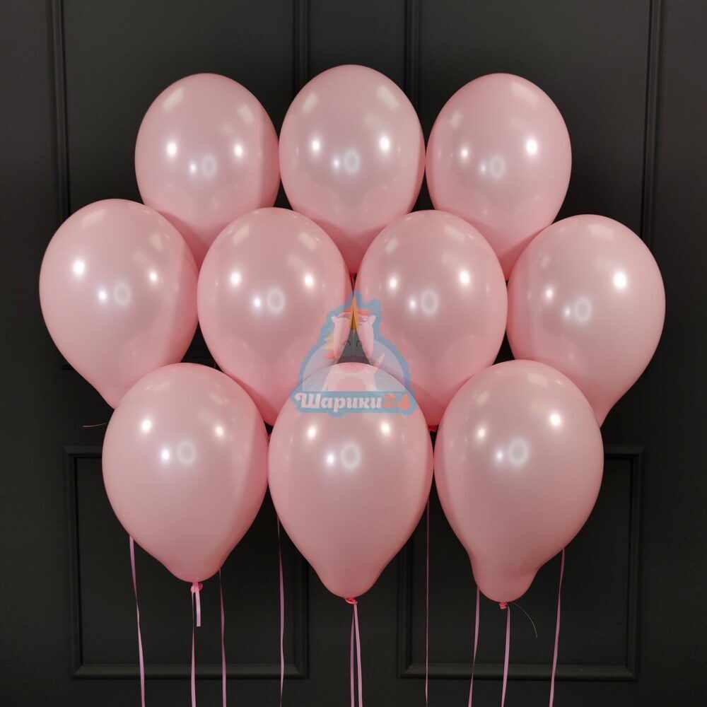 Шары под потолок розовые 50 штук
