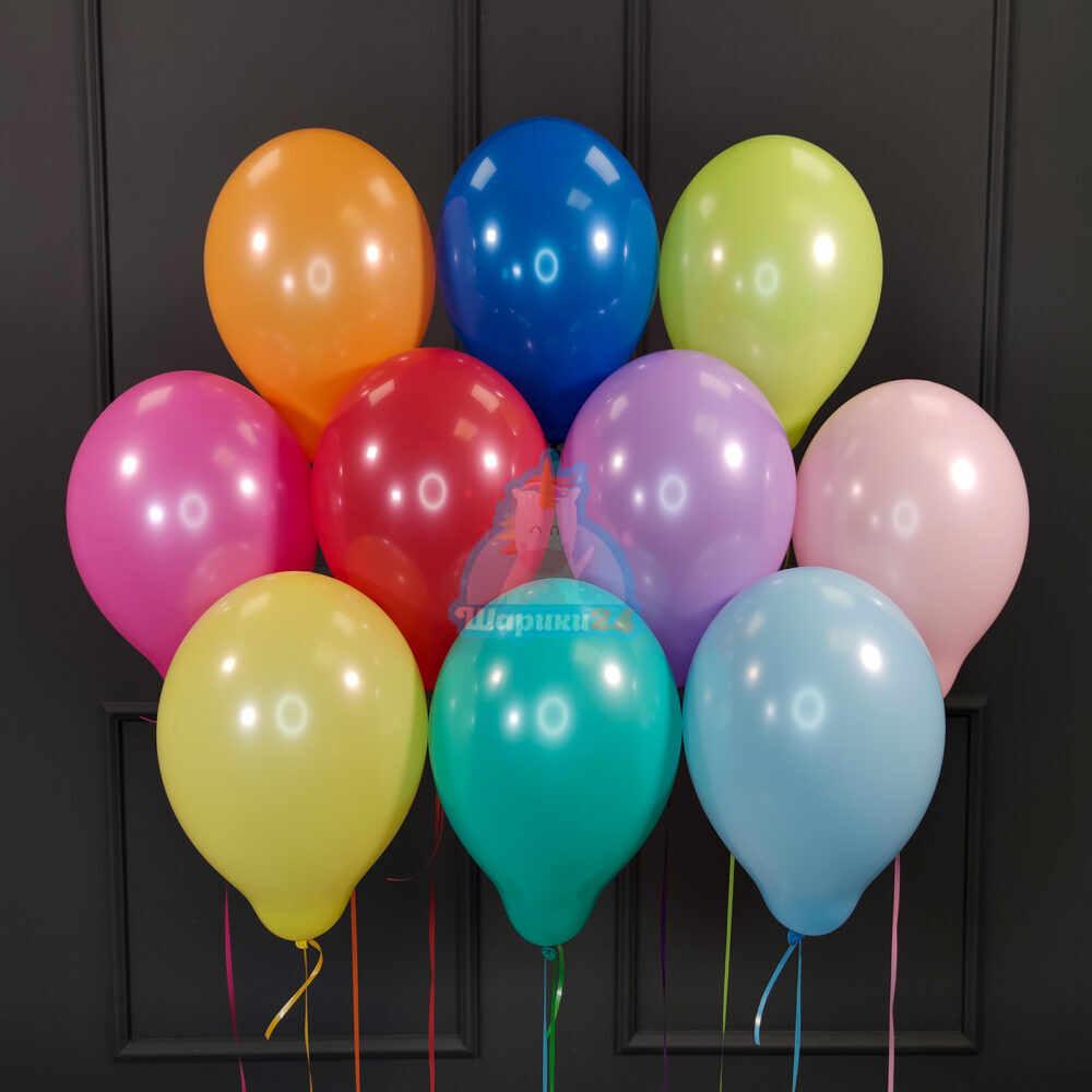 Гелиевые шары разноцветные пастель