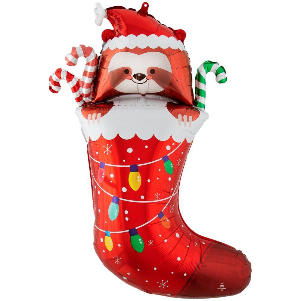 Фольгированная фигура Новогодний носок